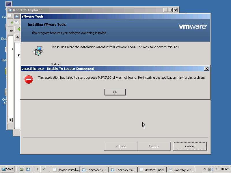 core 5135 msi vmware tools v7 1 2 crashes at install reactos jira rh jira reactos org