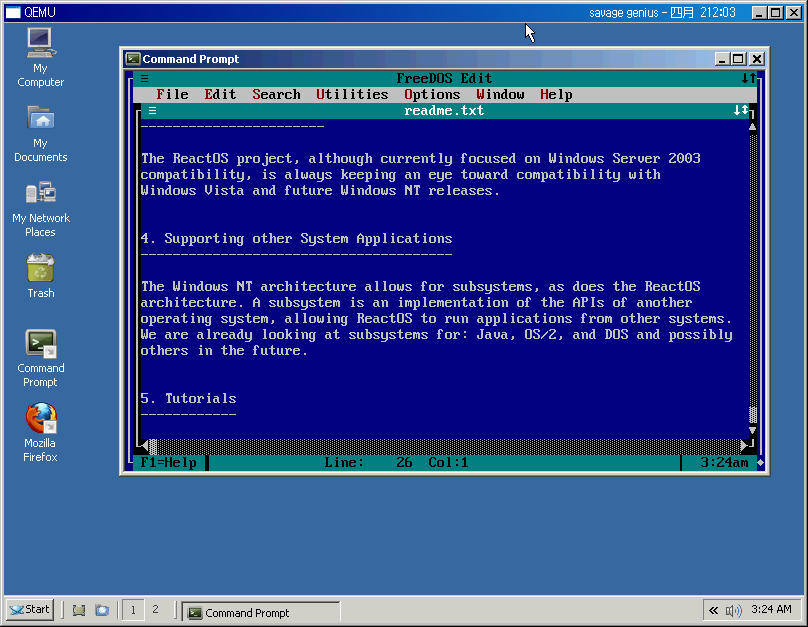 CORE-7706] Better font for console window - ReactOS JIRA