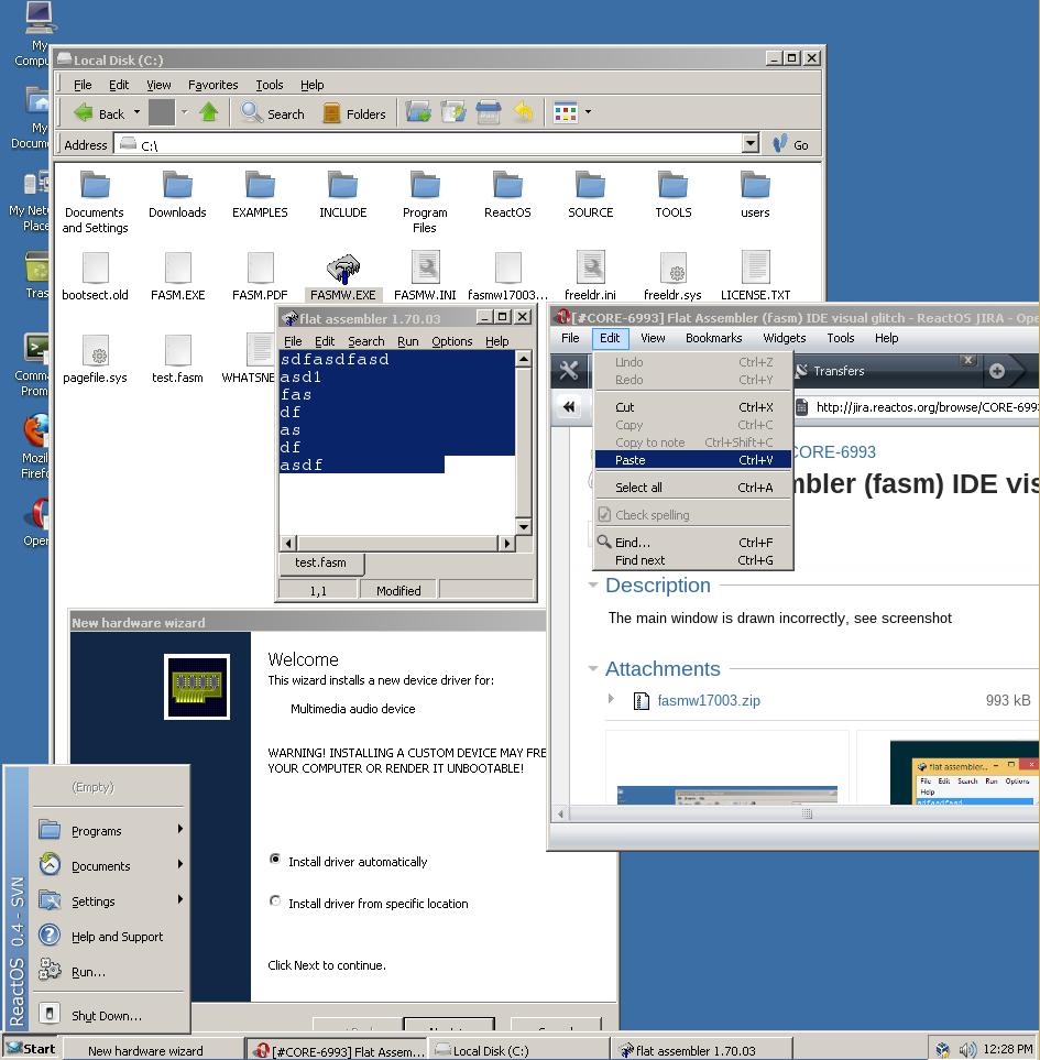 CORE-6993] Flat Assembler (fasm) IDE visual glitch - ReactOS