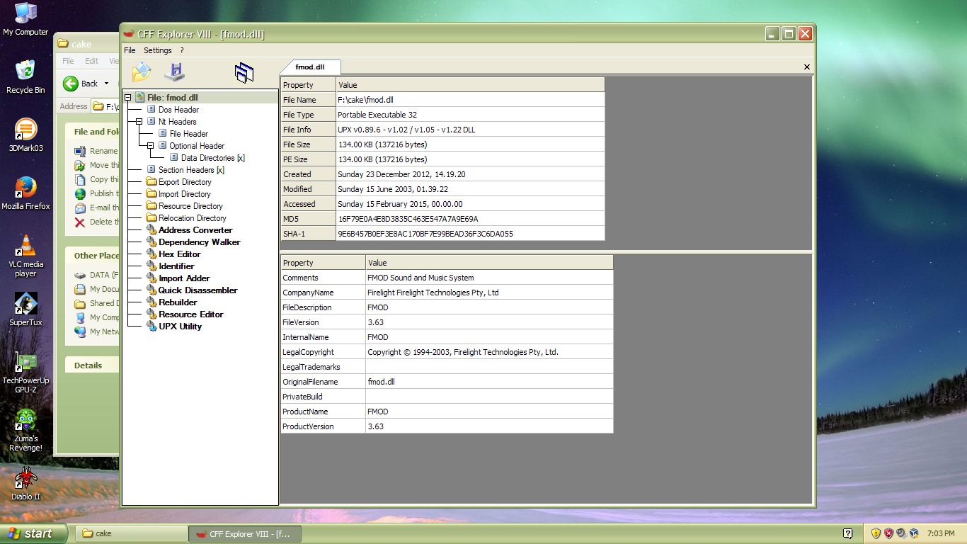 CORE-9188] Menubar renders incorrecly for CFF Explorer from