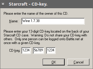 CORE-1091] Starcraft: Each field in the cdkey dialog is one