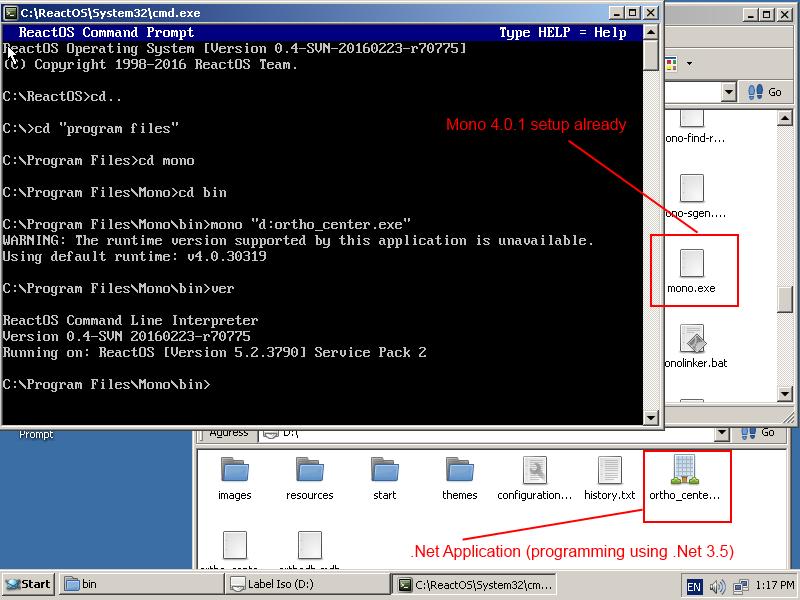 CORE-10822]  Net Framework 1 1 fails to install - ReactOS JIRA