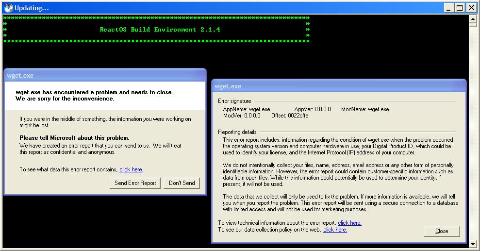 ROSBE-84] SSVN STATUS command reports