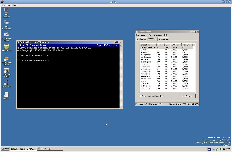 CORE-12521] Running Emacs for Windows Crashes ReactOS
