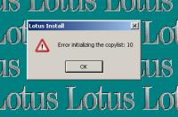 Lotus Install Error Initializing.png